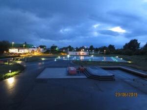 KB Hubschrauberlandeplatz nachts